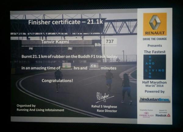 Finish Certificate